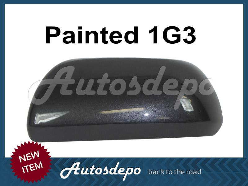 MIRROR COVER PAINTED BLACK 202 W// LAMP TYPE SET FOR 4RUNNER 2010-2013