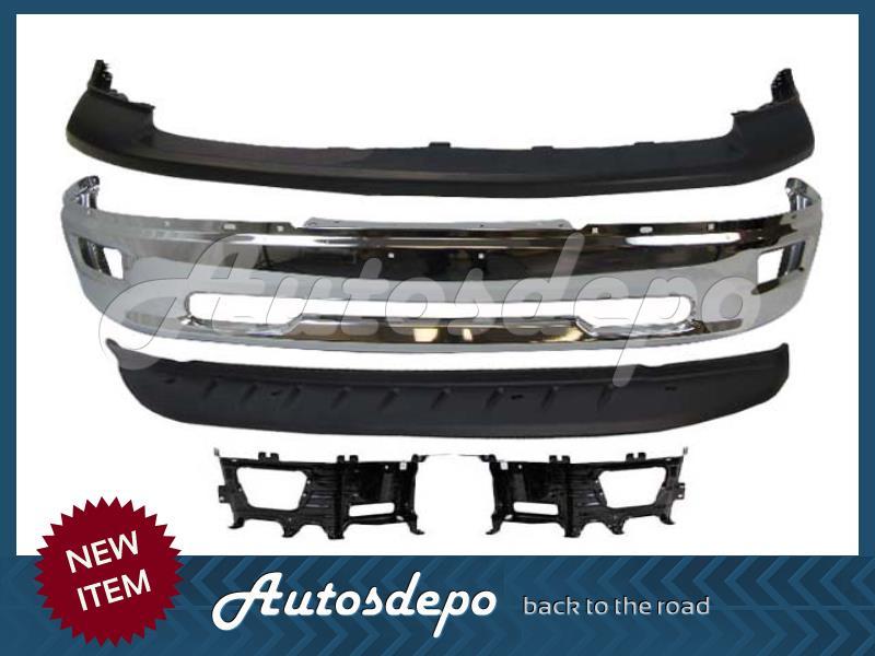 Metal Bumper Kit : Dodge ram front steel bumper bracket kit