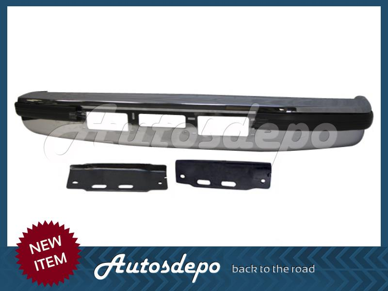 For 92-97 Ford F150 F250 F350 Pickup Gas Front Bumper Face Bar Chrome W//Cutouts