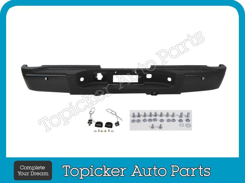 Painted Black WA8555 Front Bumper Impact Bar W//O Hole For 07-13 Silverado 1500