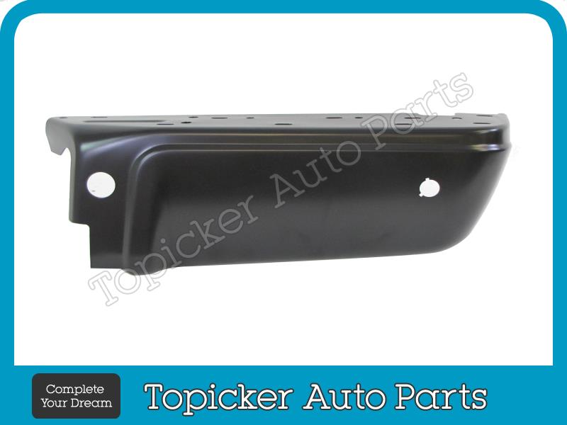 For 2008-2015 FORD SUPER DUTY REAR STEP BUMPER BLACK EXTENSION OUTER W//HOLE Pair