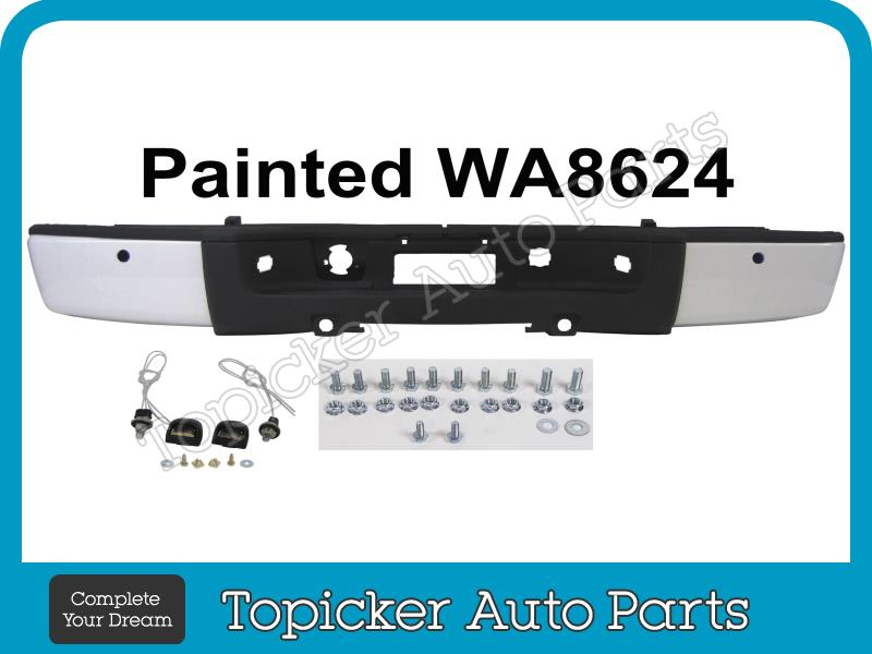 Painted Summit White WA8624 Roll Pan W/License Part For 07-13 Chevy