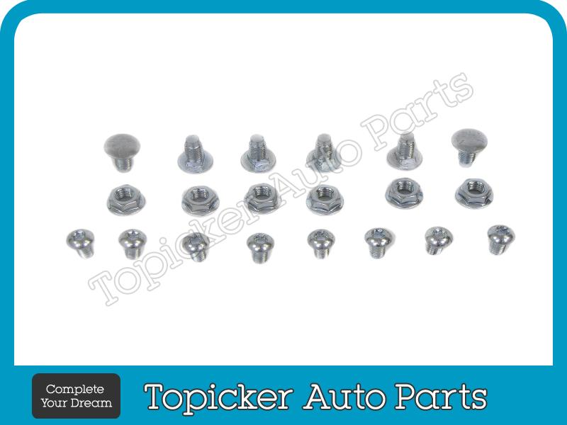 FOR Toyota 1993-1998 T100 Pickup Rear Step Bumper Face Bar Black Mounting Screws