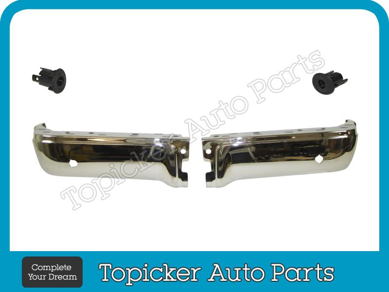 Rear Bumper Black End Outer Sensor Retainer Rh 2pc For F150 Styleside 2009-2014