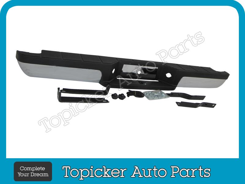 Rear Step Bumper Coated Black Assy For 1993-2011 Ford Ranger StyleSide Body Pad